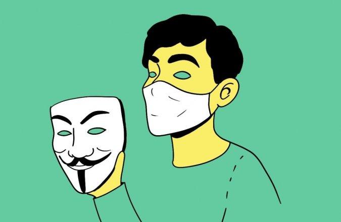 маска медицинская ковид